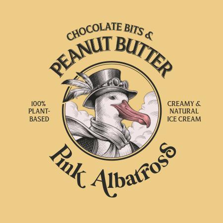 Sabor Chocolate Bits & Peanut Butter · Pink Albatross - Tapa