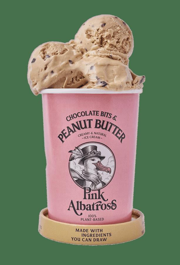 Sabor Chocolate Bits & Peanut Butter · Pink Albatross - Helado