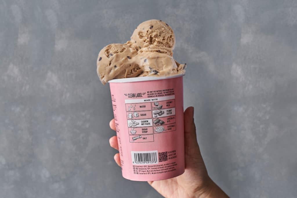 etiquetas alimentos helados veganos sin leche pink albatross